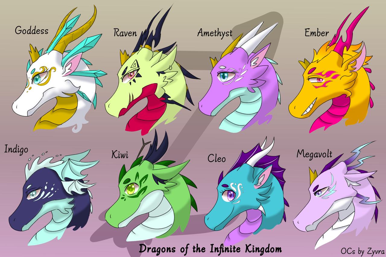 Dragons of the Infinite Kingdom Illust of Zyvra Dragonfyre medibangpaint family lego crystal oc dragon royal furry