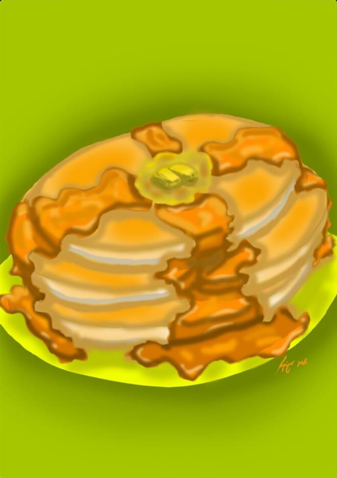 Pancake Illust of maoruai yellow iChallenge food digital Pancake
