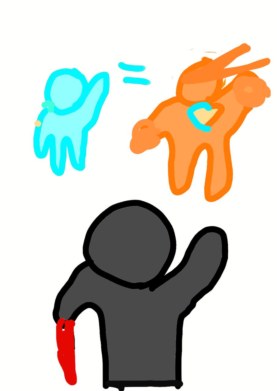 alma azul se juntou a laranja para derrotar a preta