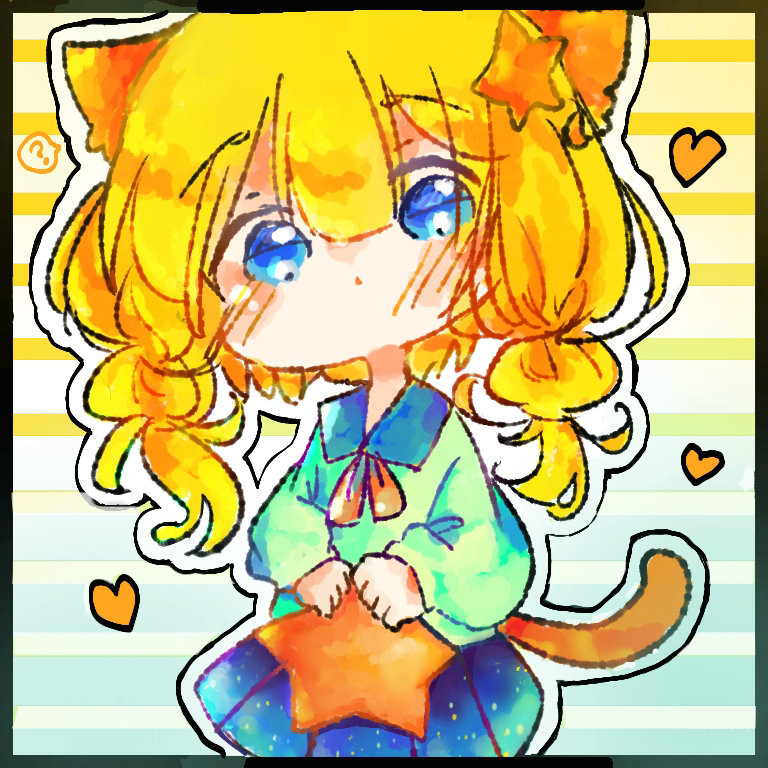 neko Illust of CC September2020_Contest:Furry medibangpaint chibi girl blonde cat_ears