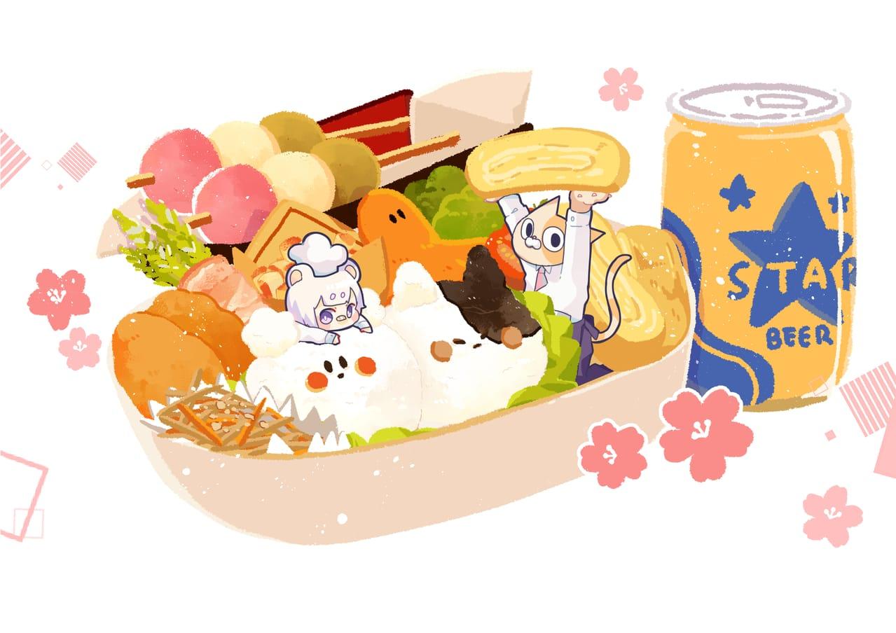 お花見弁当 Illust of chiya雅 October2020_Contest:Food お弁当