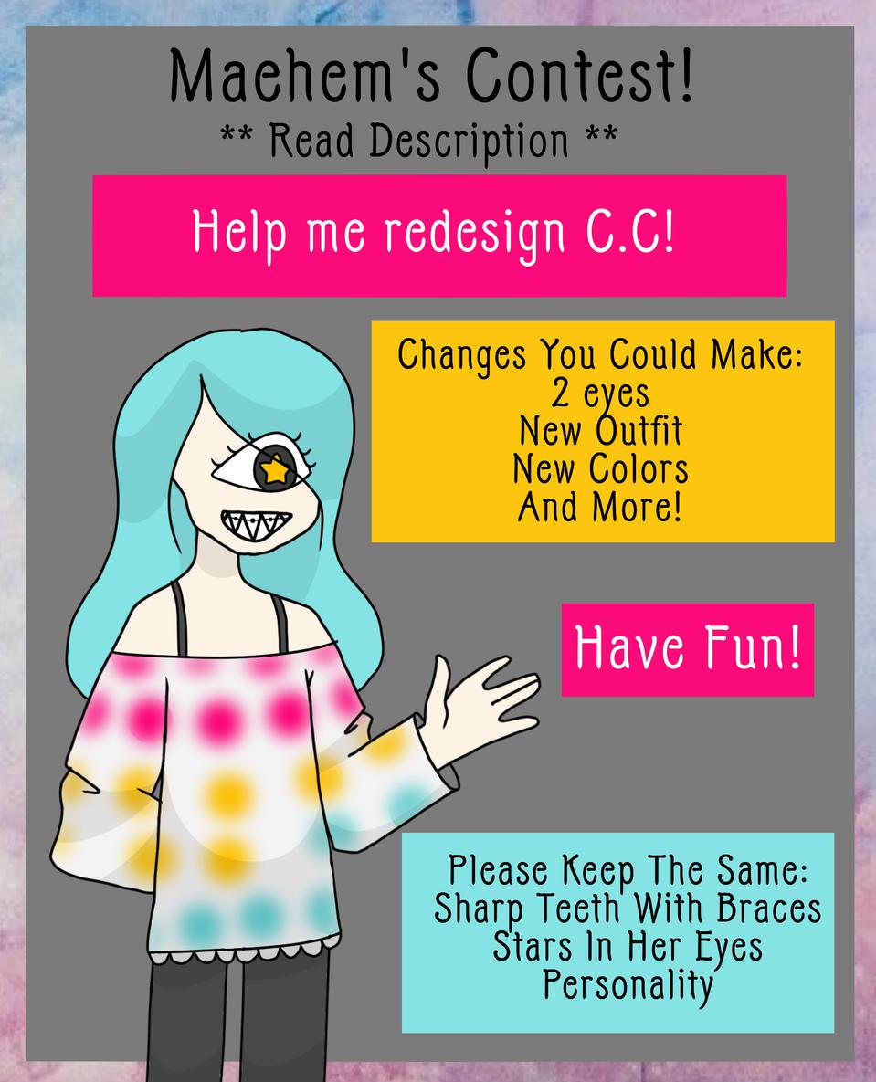 Redesign C.C. Contest!  **READ DESCRIPTION** Illust of Maehem medibangpaint fun cute Cyclops oc Maehem's1stContest contest