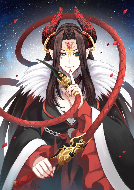 【東離劍遊紀】刑亥 Illust of 巽陵 XunLing red character whip 東離劍遊紀 rose KeiGai ThunderboltFantasy
