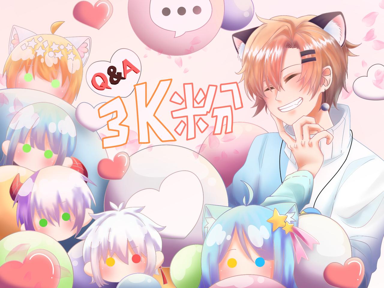 祝賀抖音3k