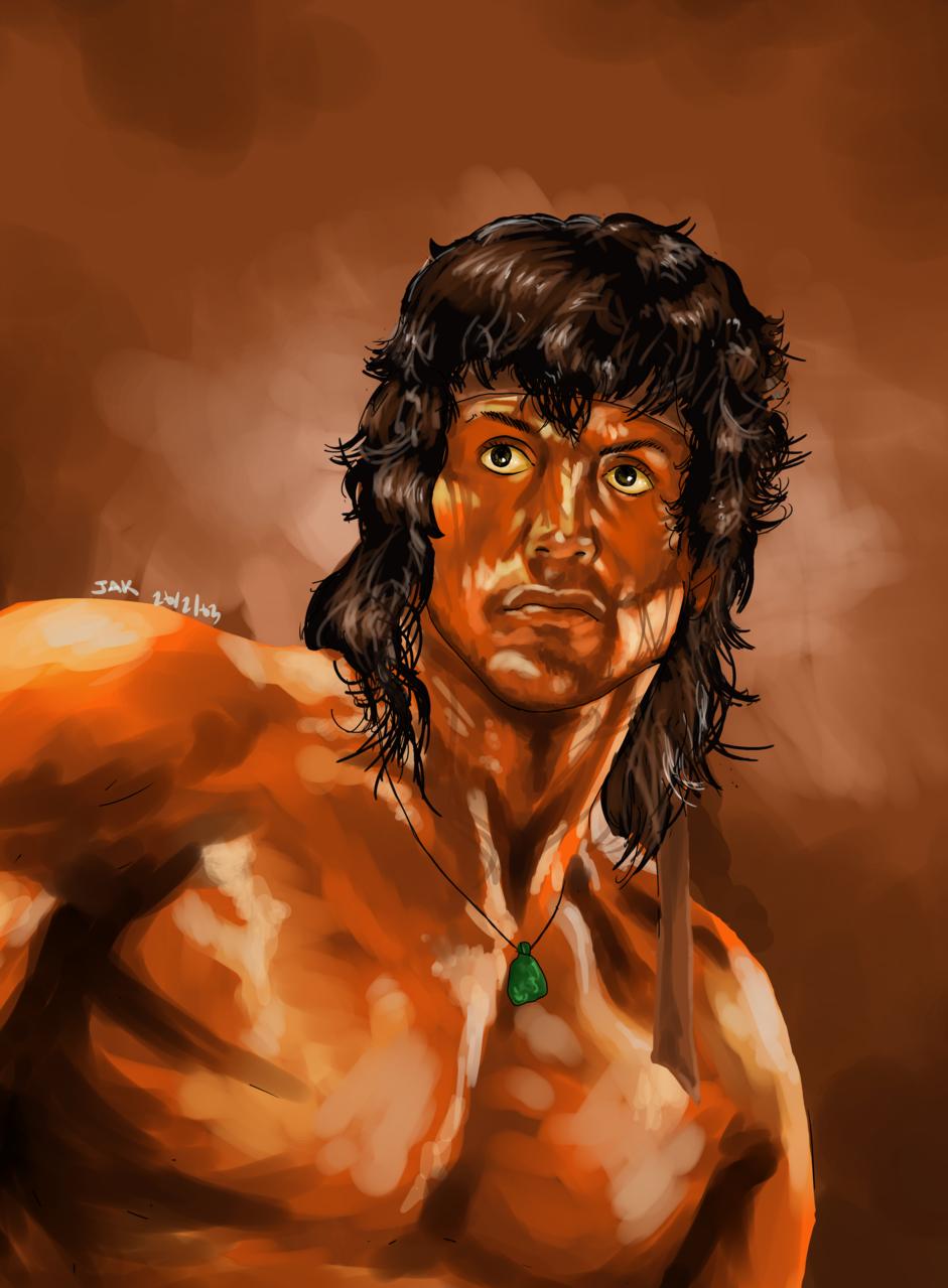Rambo III Illust of jak rocky medibangpaint