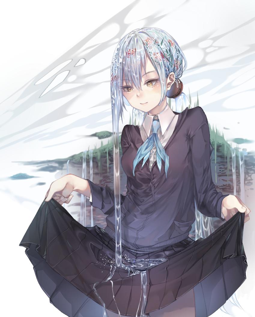 Jeanne oc drawing.  Illust of Penzeen anime girl oc medibangpaint uniform water digital