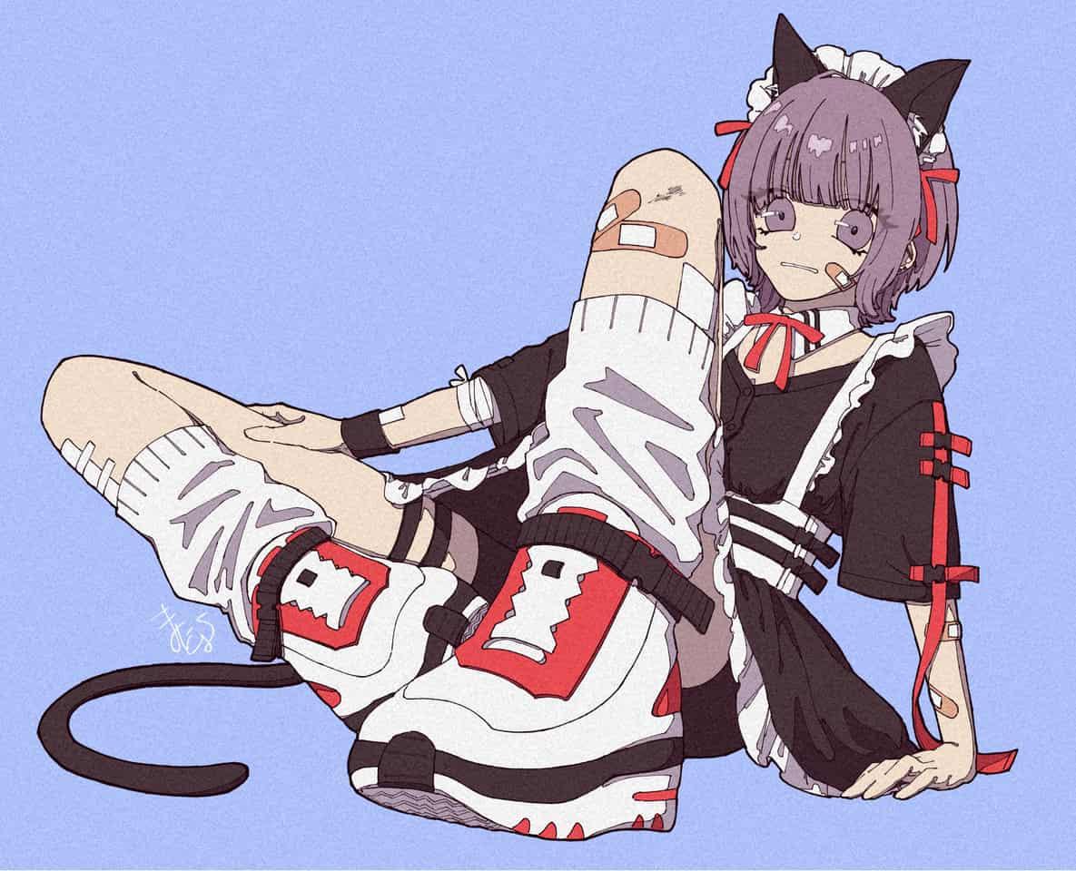 猫耳メイドさん(概念) Illust of まにとむ illustration maid cat_ears girl original