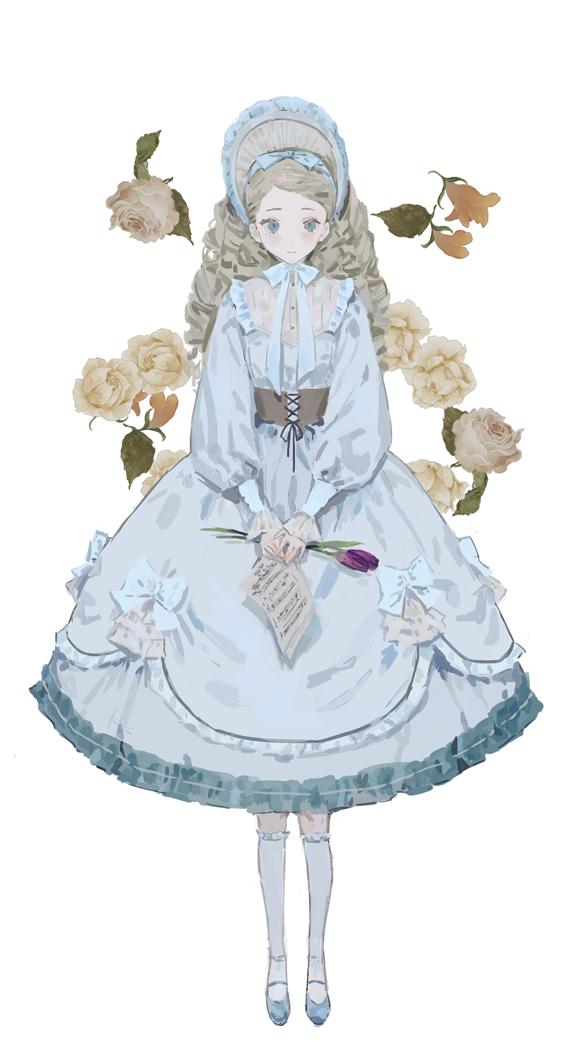 dress doll Illust of s flower girl original
