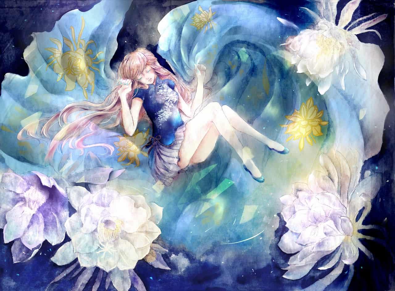 曇花 Illust of ミン ARTstreet_Ranking original girl flower illustration