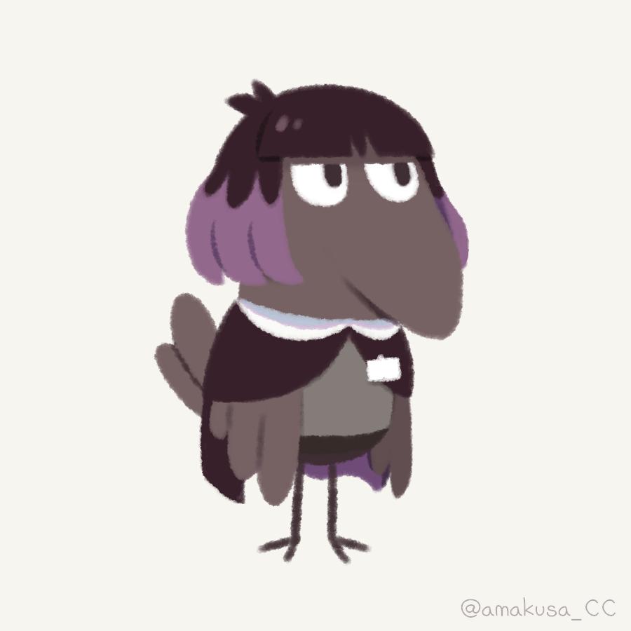 Raven + librarian Illust of ラン fanart animal hilda medibangpaint illustration girl Netflix character