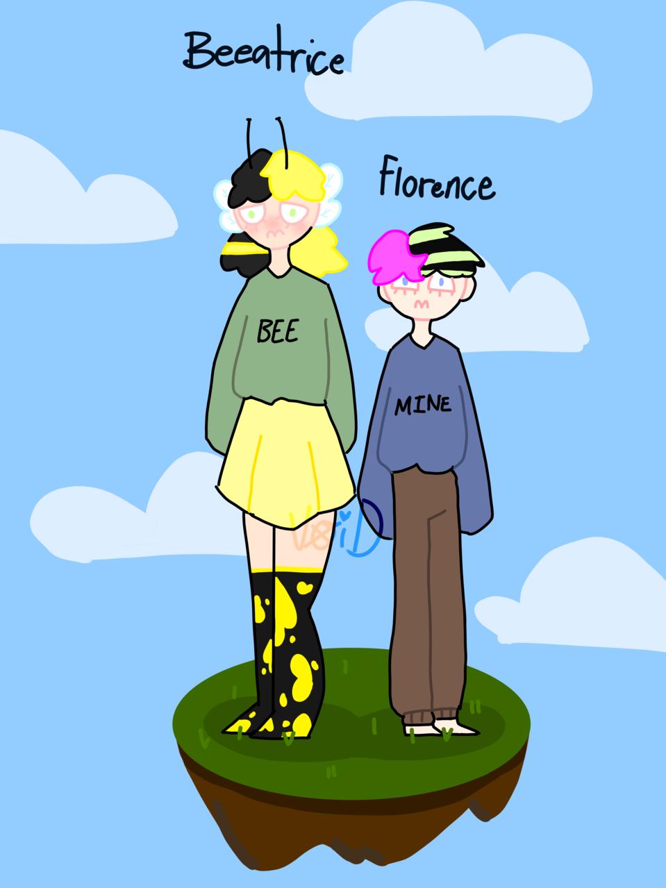 bee x flower [read desc if u want] Illust of 𝖍𝖊𝖑𝖑𝖔 𝖐𝖎𝖙𝖙𝖞