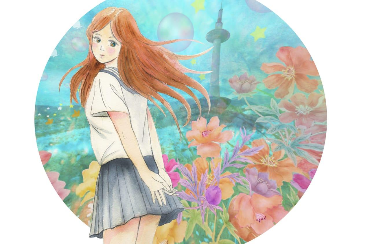 少女3 Illust of BRC Kyoto_Award2021[illustration] 京都 girl ファンタジーキャラ 女の子かわいい 京都タワー