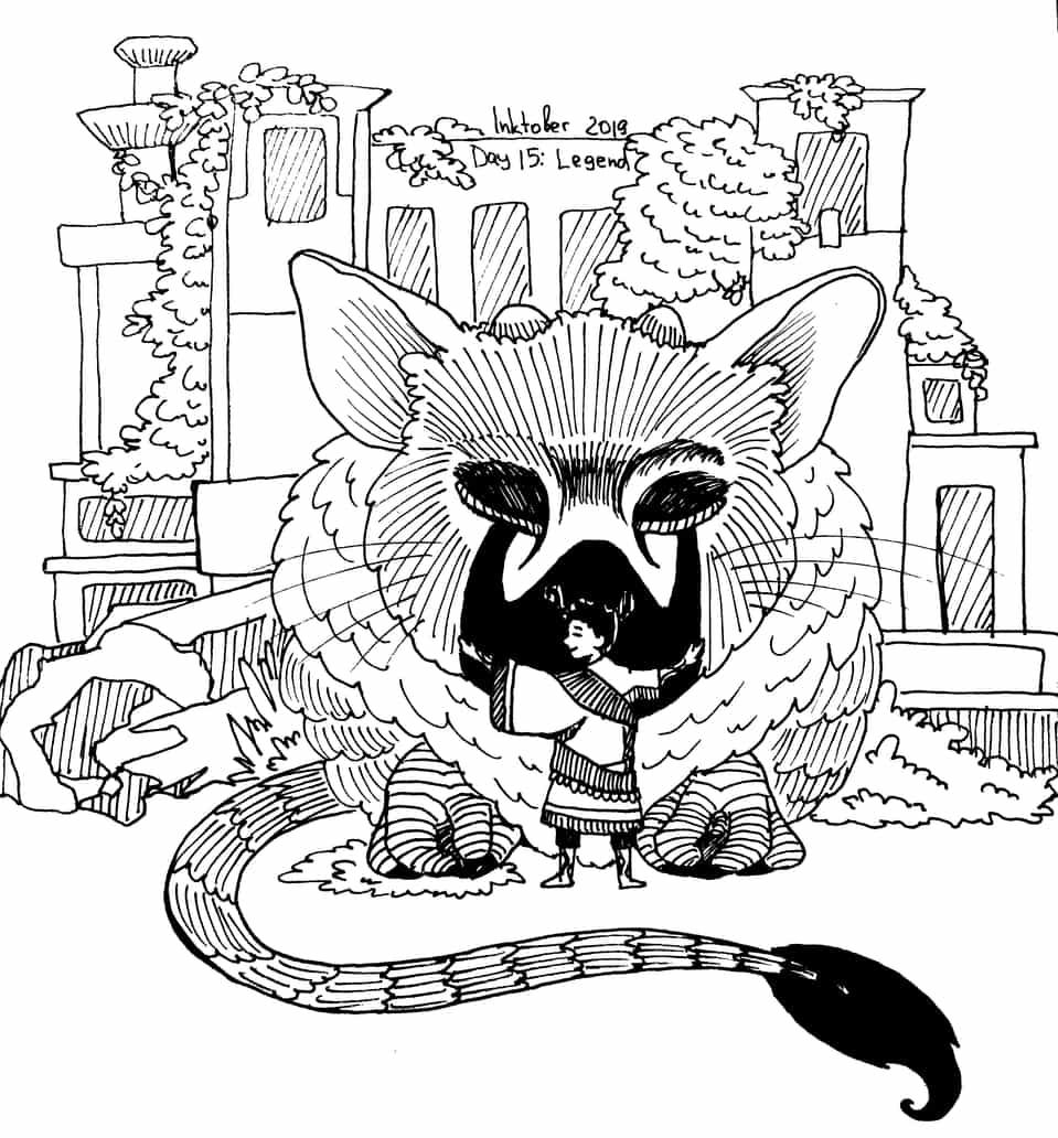 Legend Illust of Mr.Sheogorath Legend ruins Day15 TheLastGuardian Inktober game Inktober2019 Trico