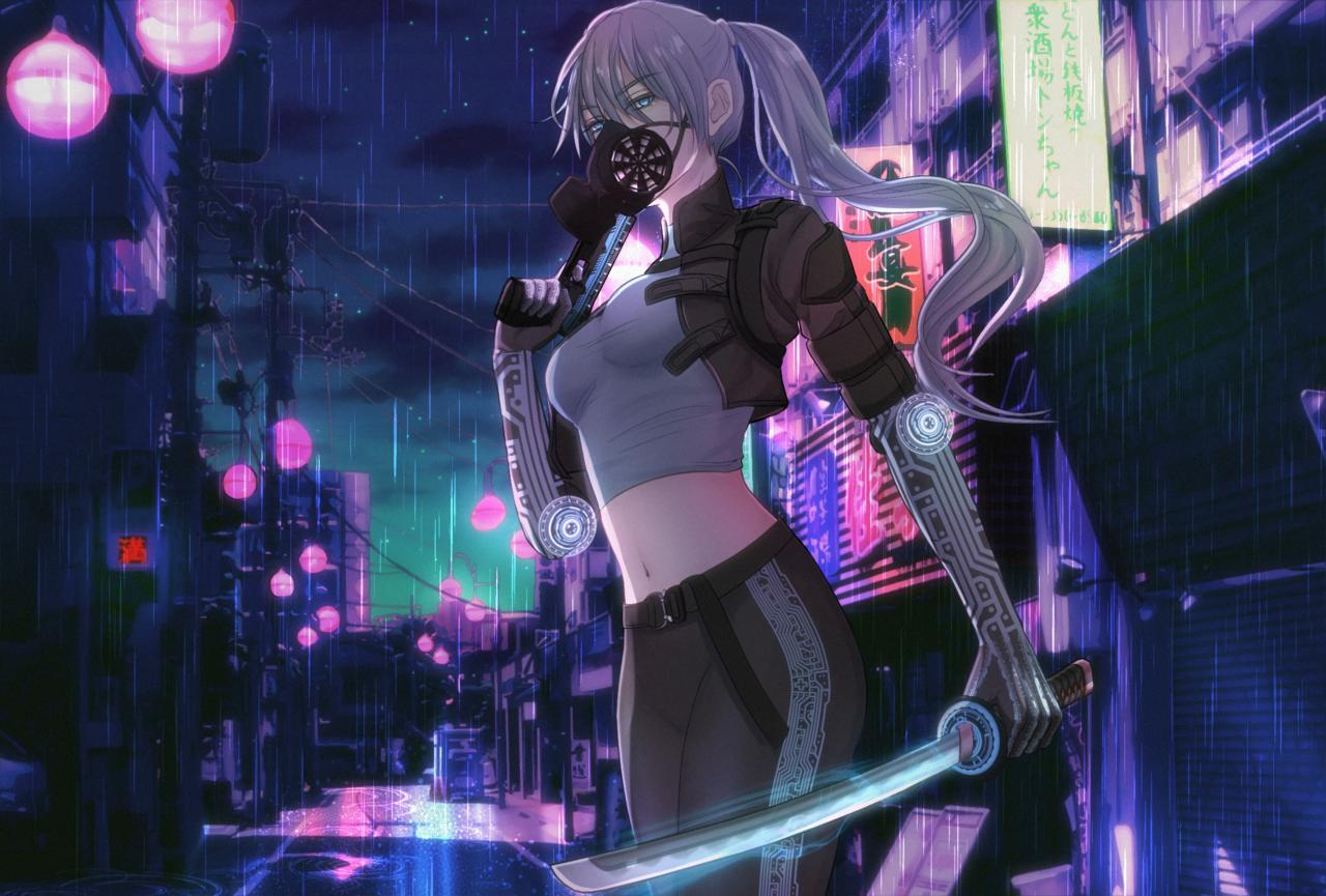 Rogue Soldier  Illust of mrsartwork November2020_Contest:Cyberpunk soldier girl scifi neon samurai punk tokyo 兵士 cyberpunk