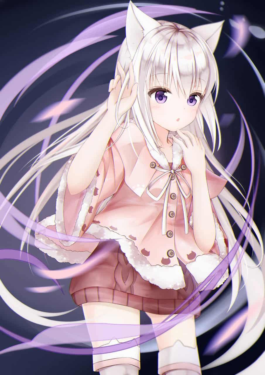 Illust of Ria 狐耳 girl white_hair original