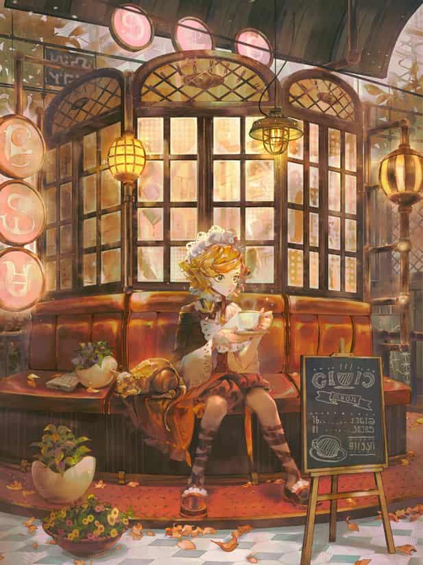 autumn Illust of lsu Sep.2019Contest original illustration oc art 発光
