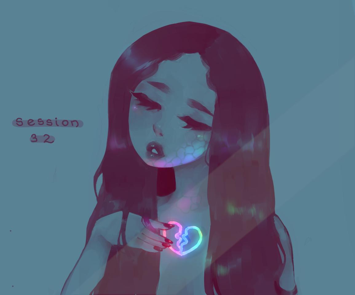 session 32  Illust of h o ɳ e y d e w ☻︎ stupid soft lmfao aesthetic