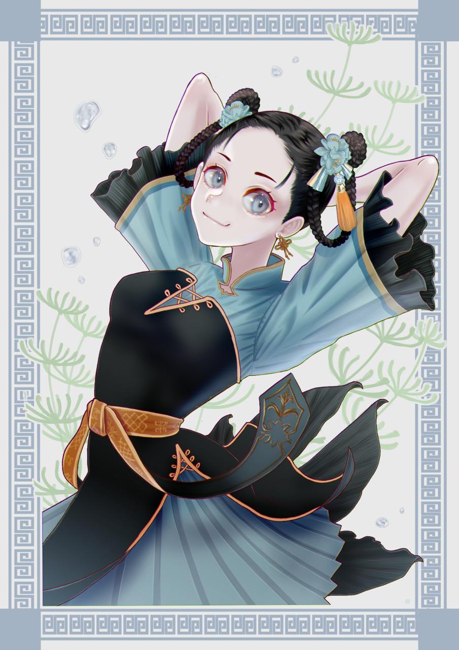 ひらり Illust of FJ kawaii girl cheongsam impasto