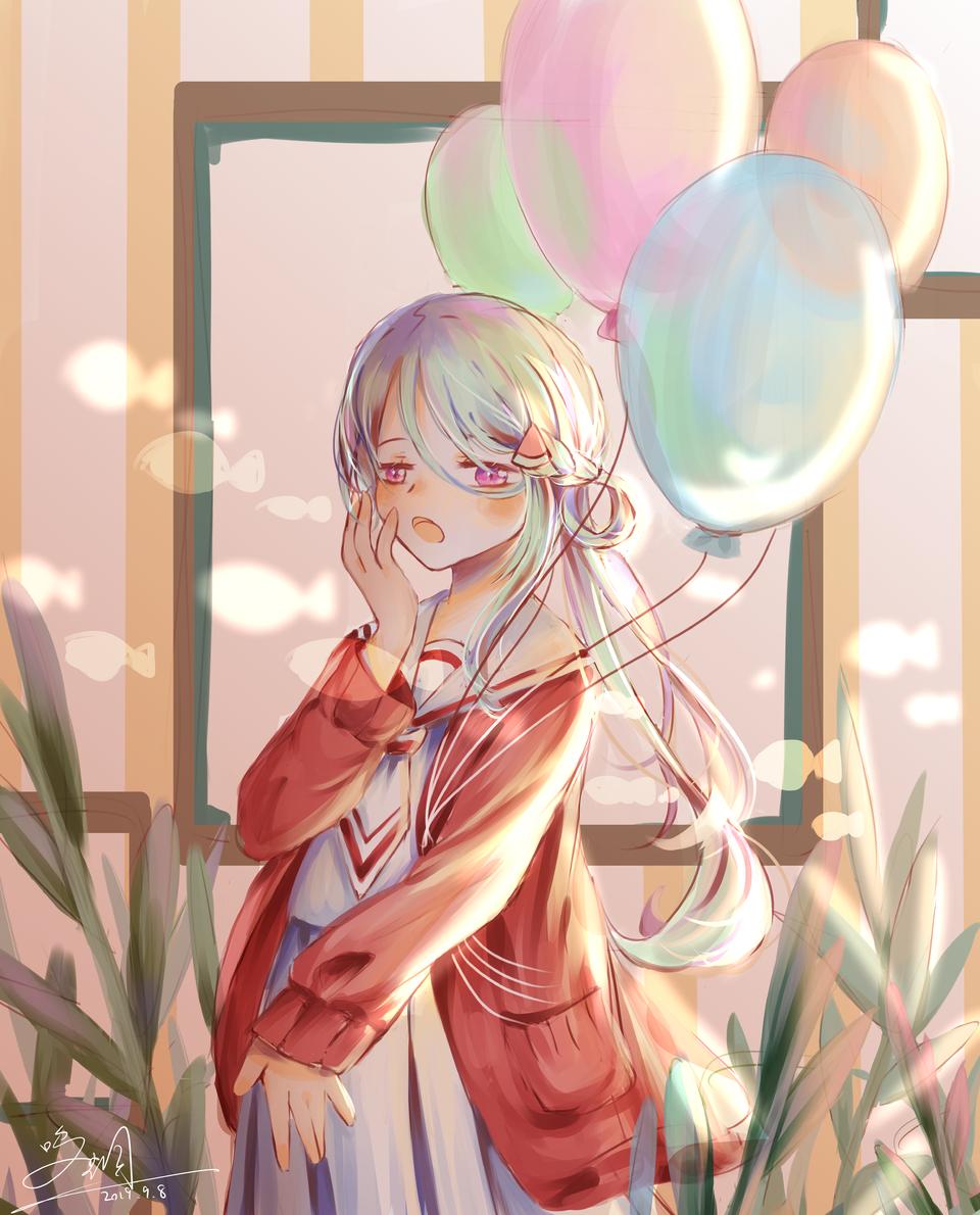 🎈 Illust of 五月呜蜩 medibangpaint girl oc original