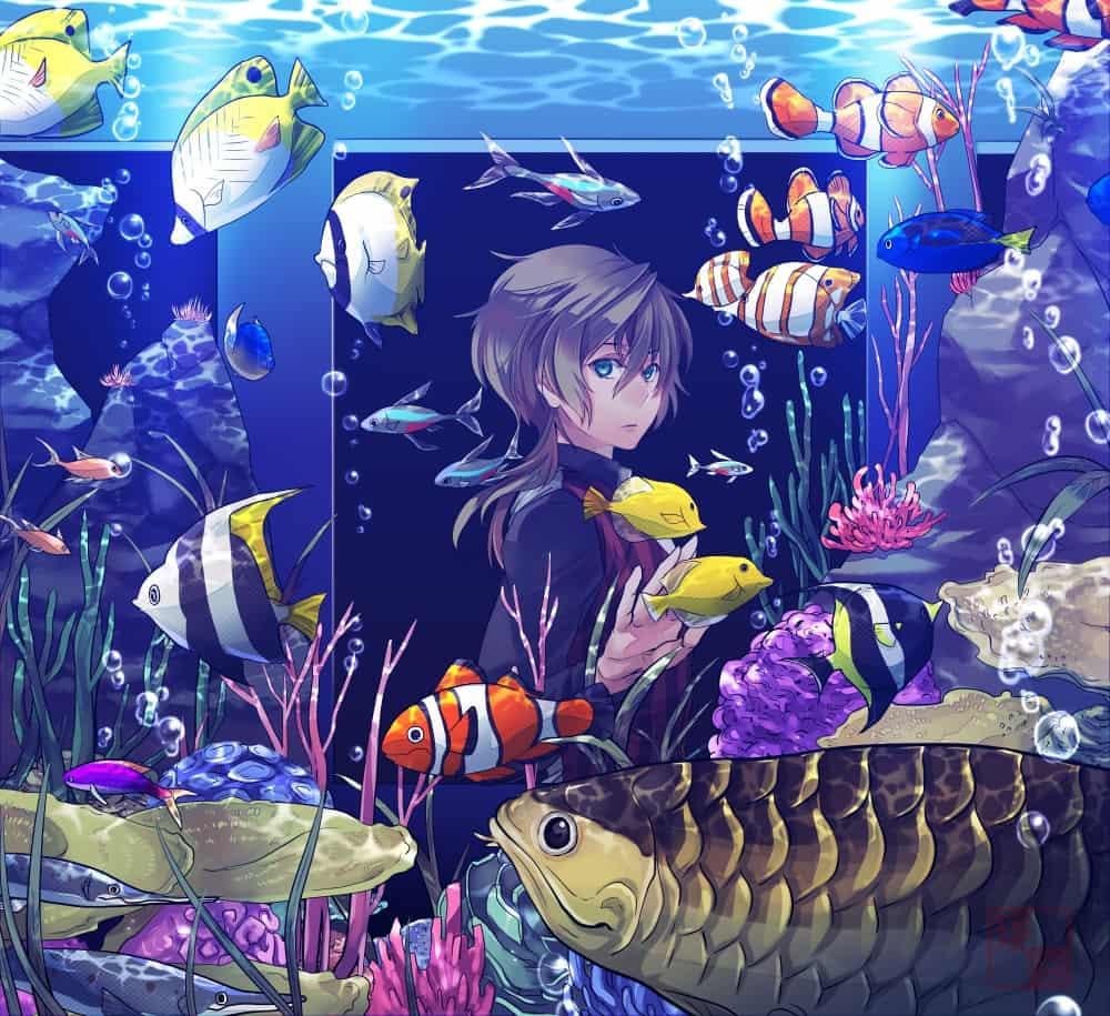 アクアリウム Illust of 玖路 medibangpaint 一次創作 アクアリウム fish original water
