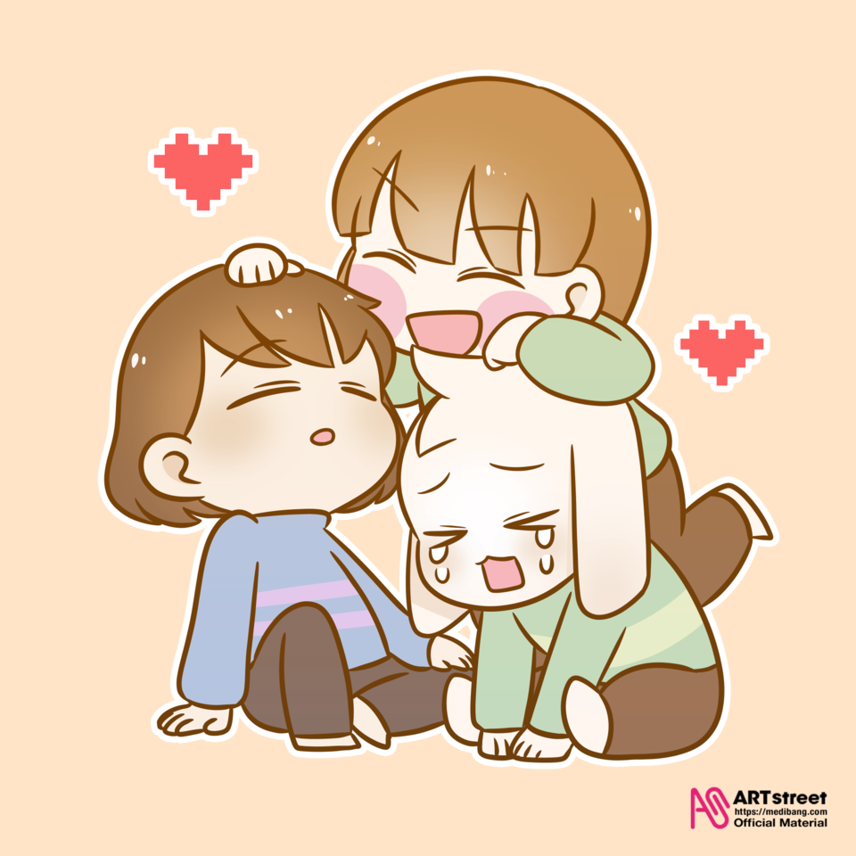HOME Illust of patty tracedrawing Trace&Draw【Official】 Chara undertale Asriel Frisk