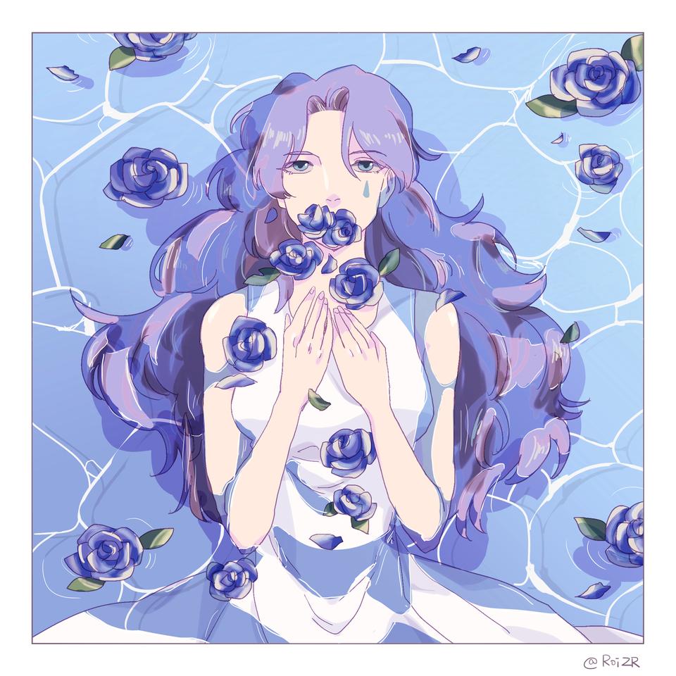 Violet Illust of Roi April.2020Contest:Color ARTstreet_Ranking flowers girl violet