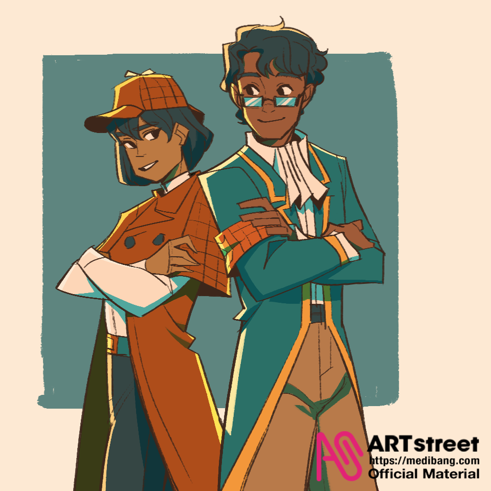 Partners in Crime! Illust of zoeves tracedrawing2 Trace&Draw【Official】 Detectives Crime