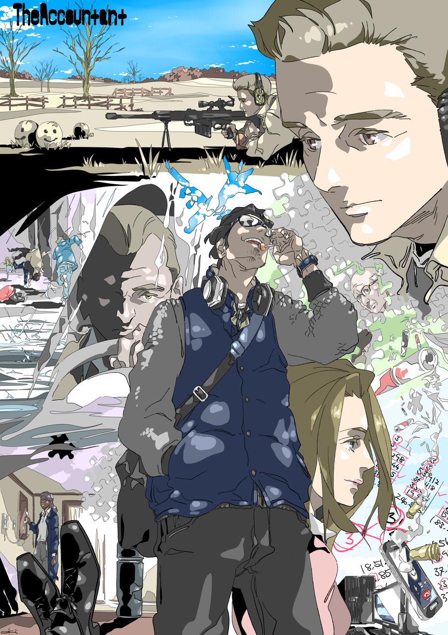 THE ACCOUNTANT Illust of oki medibangpaint movie