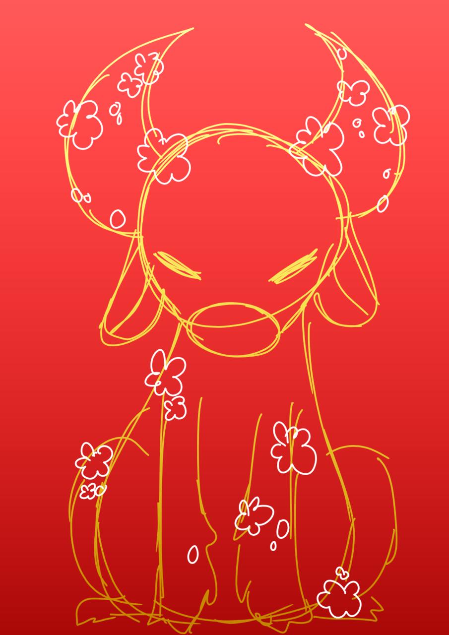 Happy lunar new year! Illust of BushBabyOrigins medibangpaint red zodiac yearoftheox chinesenewyear gold lunarnewyear ox