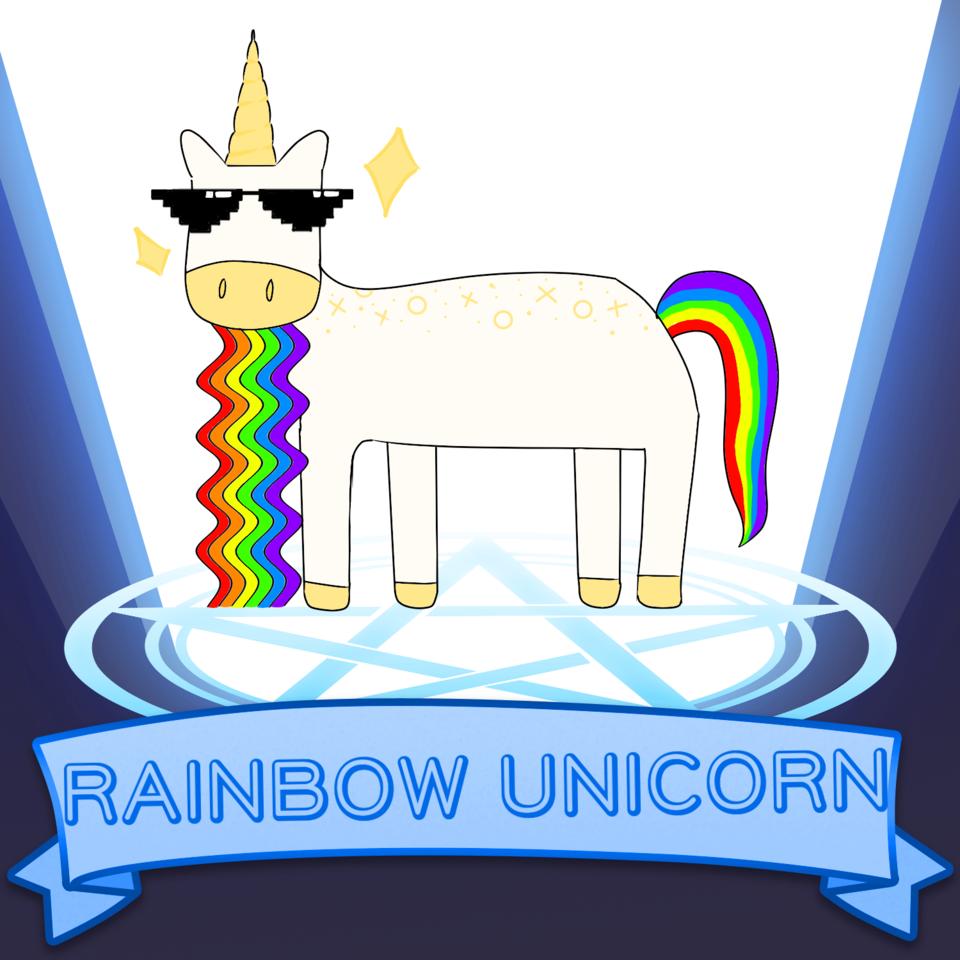 RAINBOW UNICORN Illust of 💜셴뮤🌌 Unicorn medibangpaint takoyaki rainbow SoBadItsGood