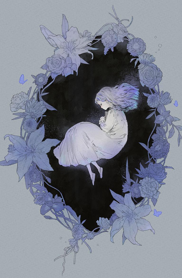 在花中 Illust of s flower girl original