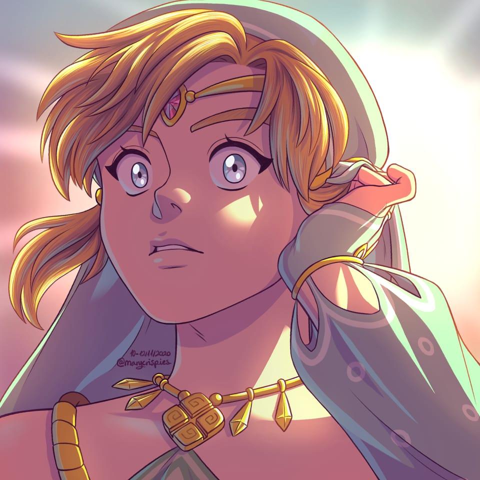 Gerudo Link Illust of marycrispies Nintendo fanart TheLegendofZelda Link BotW