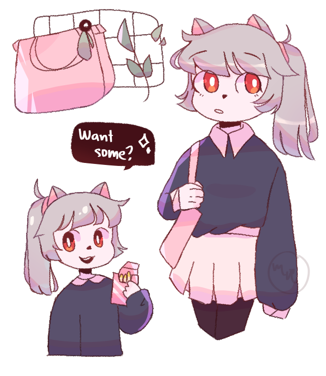 request from cherry  Illust of MochiiNiko cat pastel request aesthetic pink