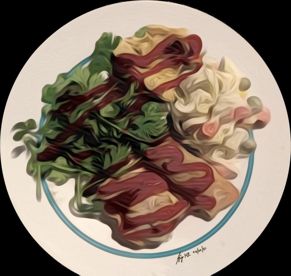 Plating Illust of maoruai pastel digital food color wavy