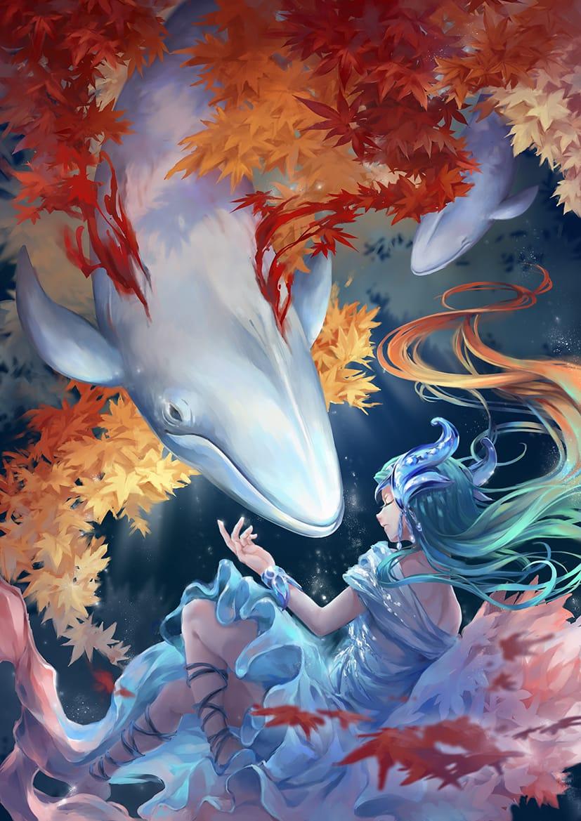 楓色の浦 Illust of Koya August2021_Animal September2021_Girl