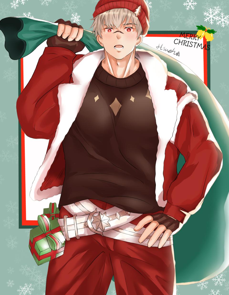Merry Christmas Illust of 阿學☁️Hsueh medibangpaint boy game 伯倫海姆 Christmas 王之逆襲