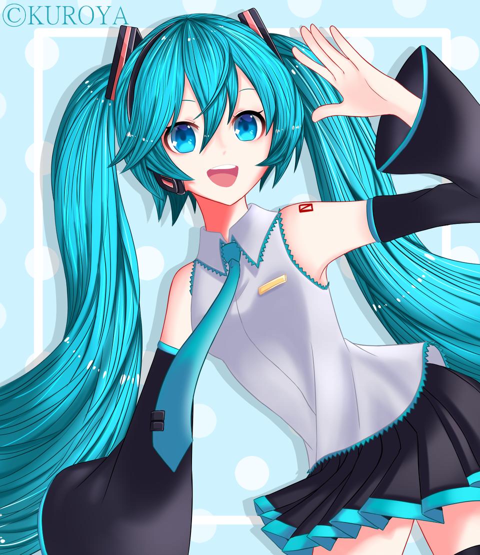 ¡ 初音ミク💙コレクション ! Illust of 黒や anime girl good_smile_company hatsunemiku