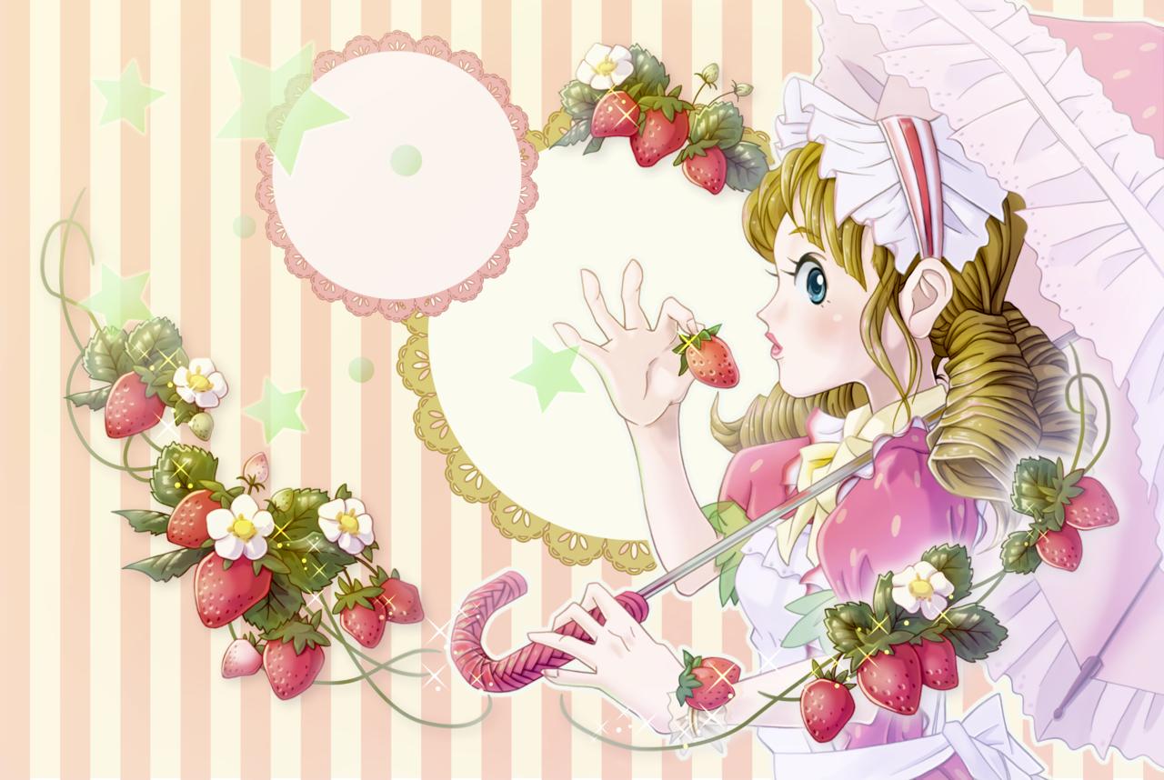 sweet strawberry Illust of 星野ティーモ ART_street_Illustration_Book_Contest girl strawberry