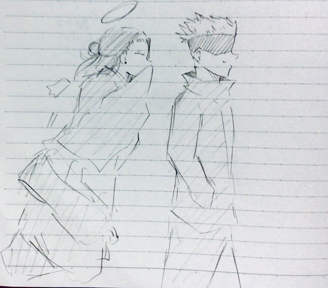 呪術rkgk Log Illust of 御神酒蜜柑by Whereabouts Art Director anime 青春 夏油傑 JujutsuKaisen rkgk doodle 夏五 SatoruGojō animefanart