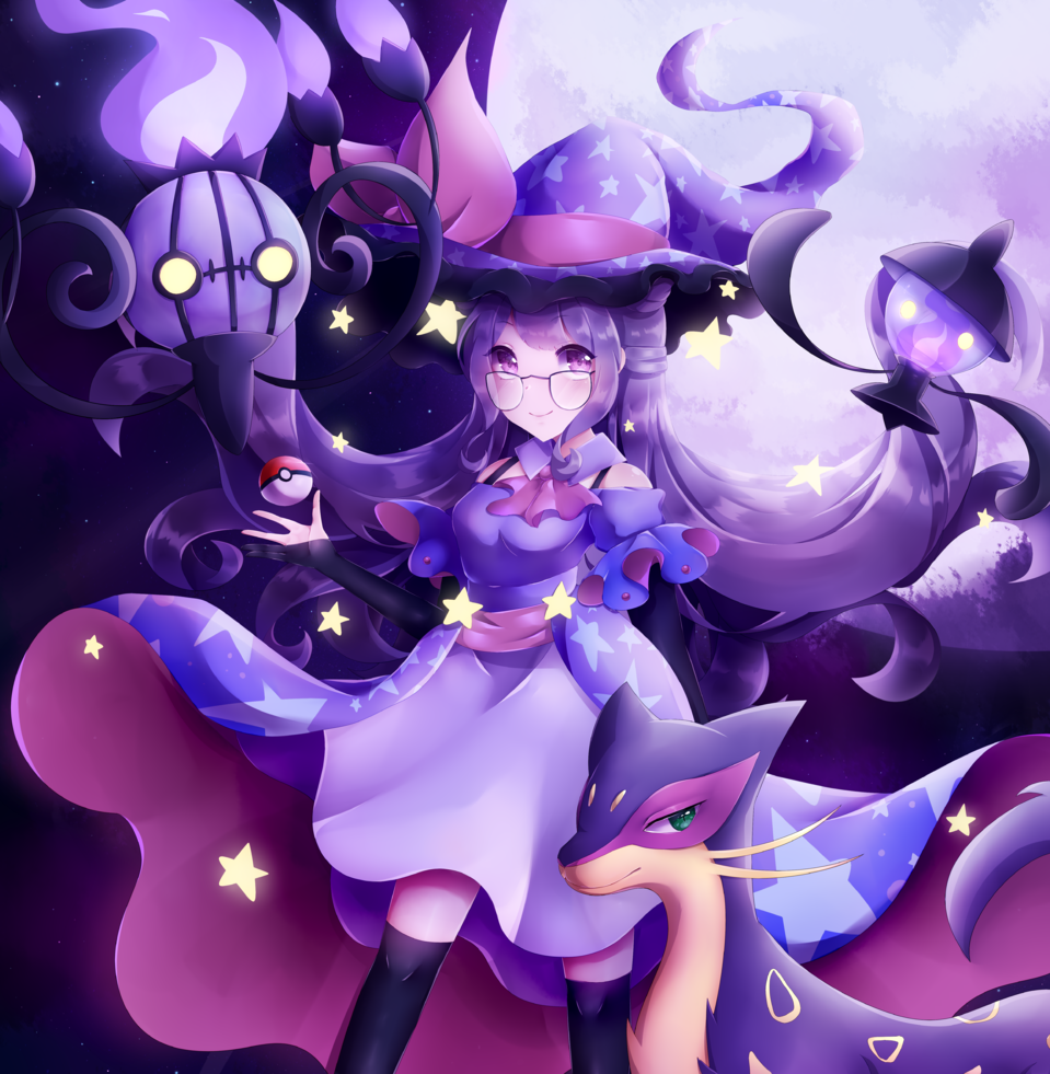 Purple lover Umai wants to battle! Illust of hebeta art MyArt girl pokemon digital cute illustration purple oc manga