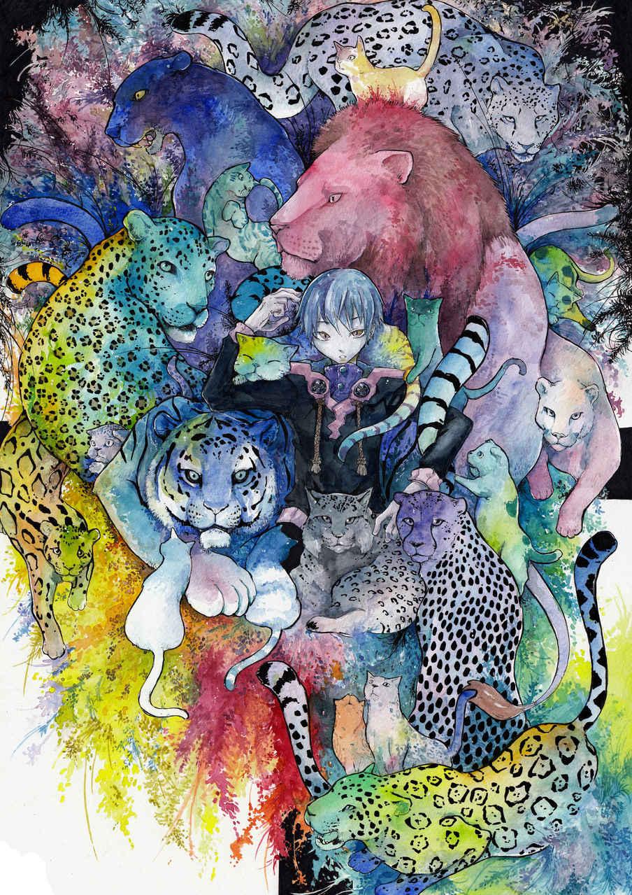 群貓 Illust of 銀甫 MCPOAwardIllustrationSection 貓咪 cat 彩色 watercolor