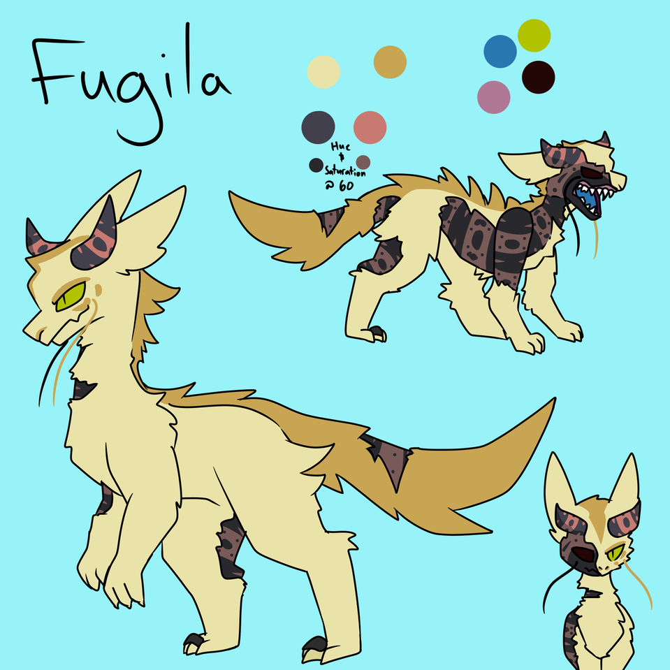 There now he has colors and stuff