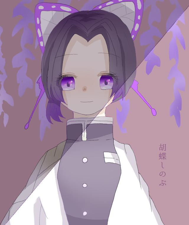 今と昔 Illust of 。いと。 purple girl 藤の花 アイビスペイント digital KochouShinobu