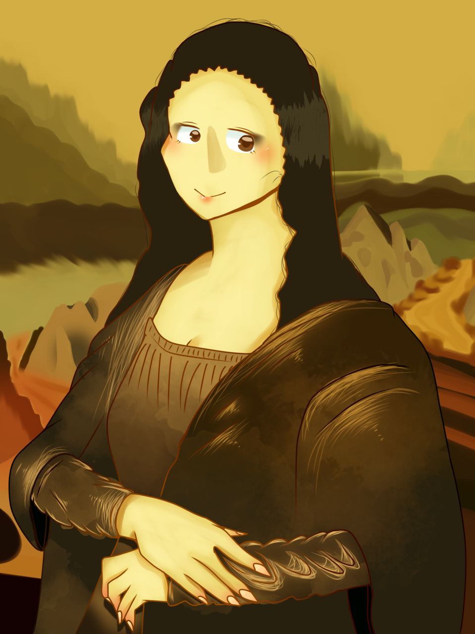 Mona Lisa made me... Illust of Qiya Art MasterpieceFanart medibangpaint art Monalisa original