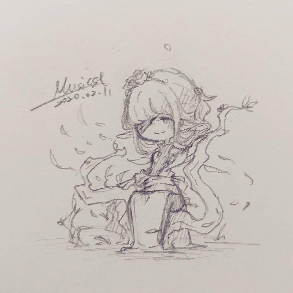 Quiet Illust of Musicst April2021_Flower handdrawn