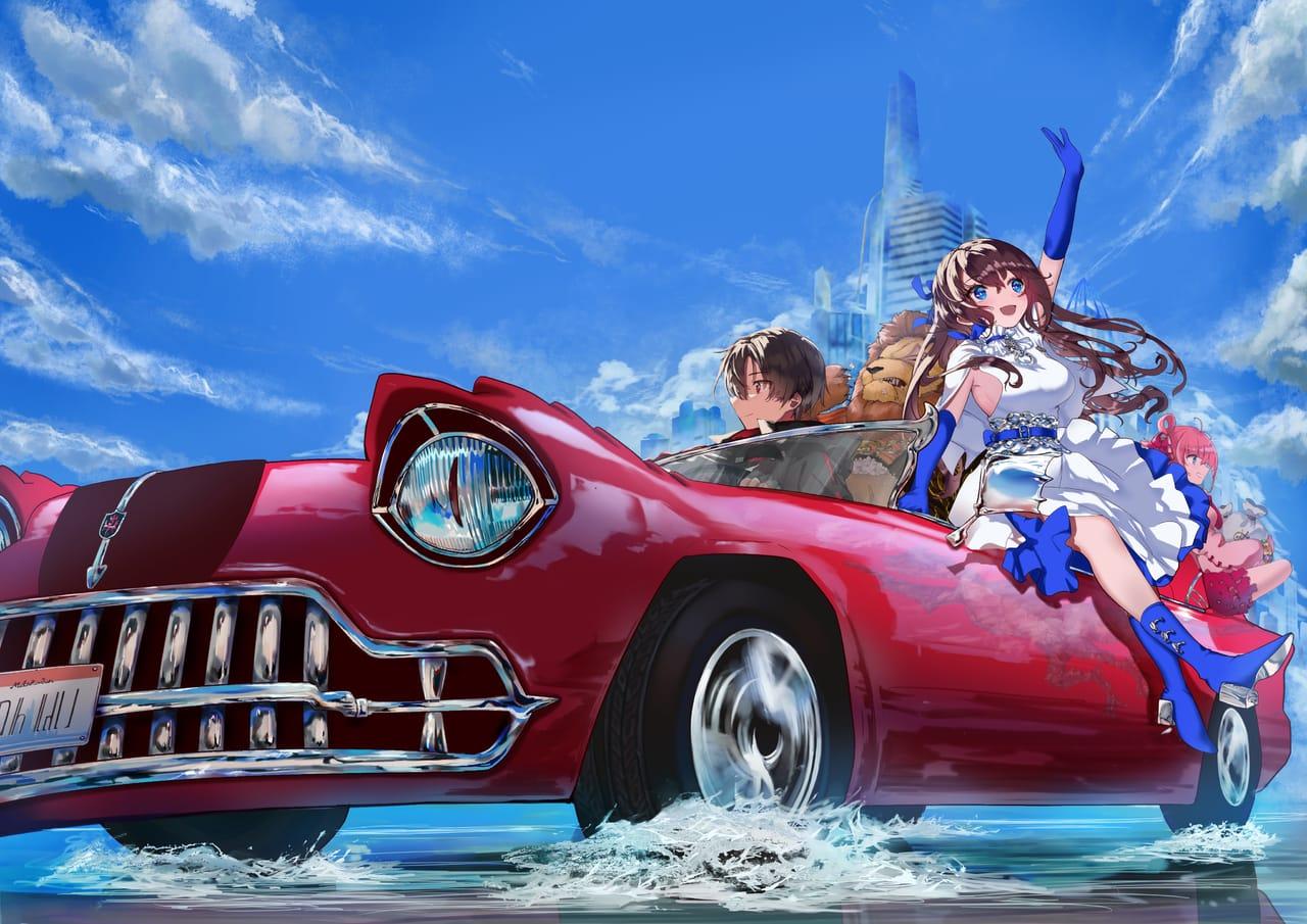 電撃イラスト2次通過作品 Illust of ひえのひろ ライトノベル 龍 car background ラノベ girl sea oc