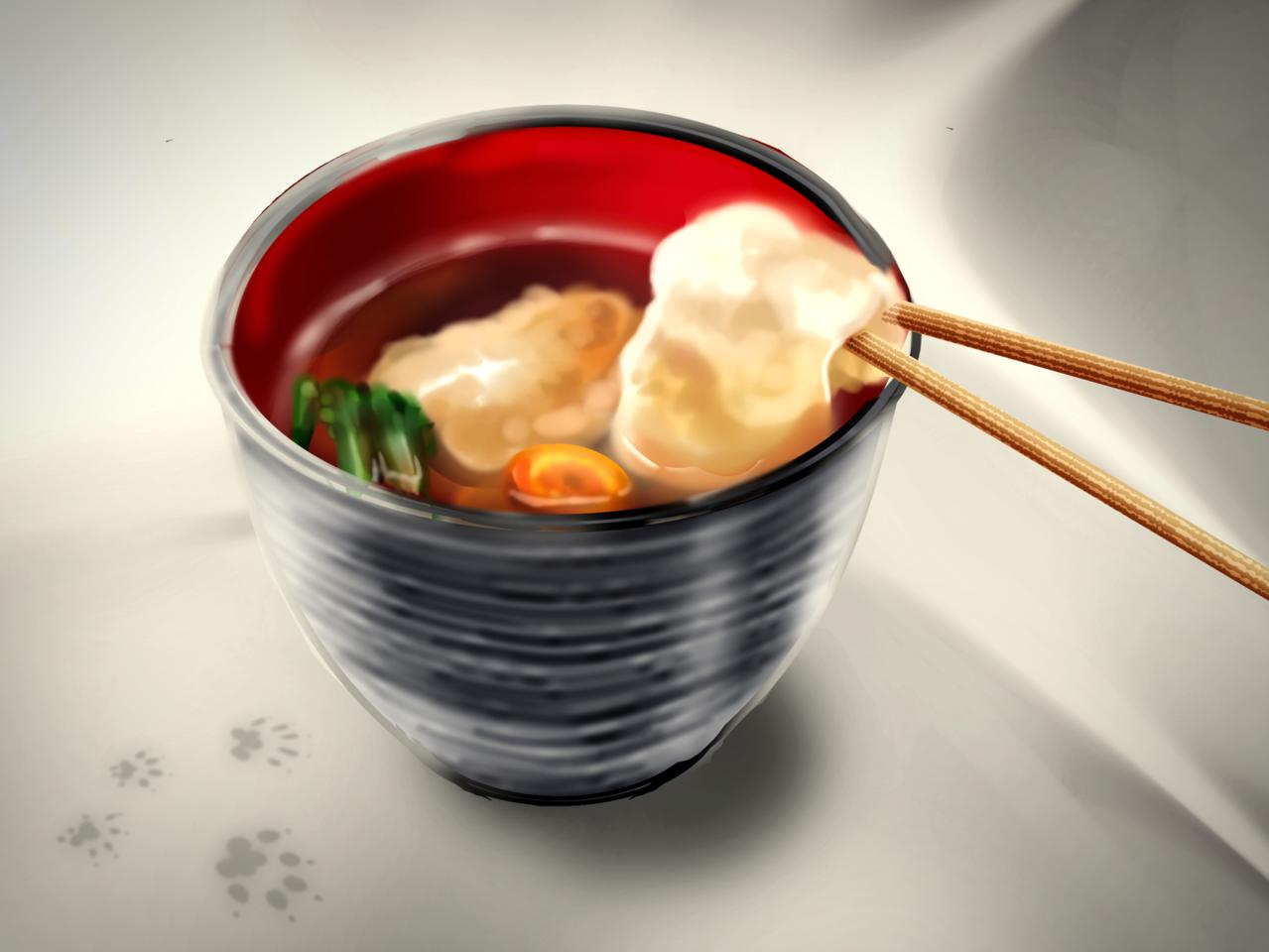 new year's mochi Illust of Akira Luca Jan.2020Contest food お雑煮