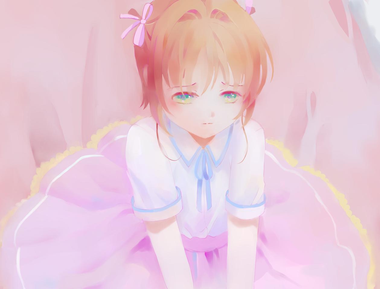 Why so sad? 1st-draft Illust of Pink.Crystal110 medibangpaint sakura CardcaptorSakura anime