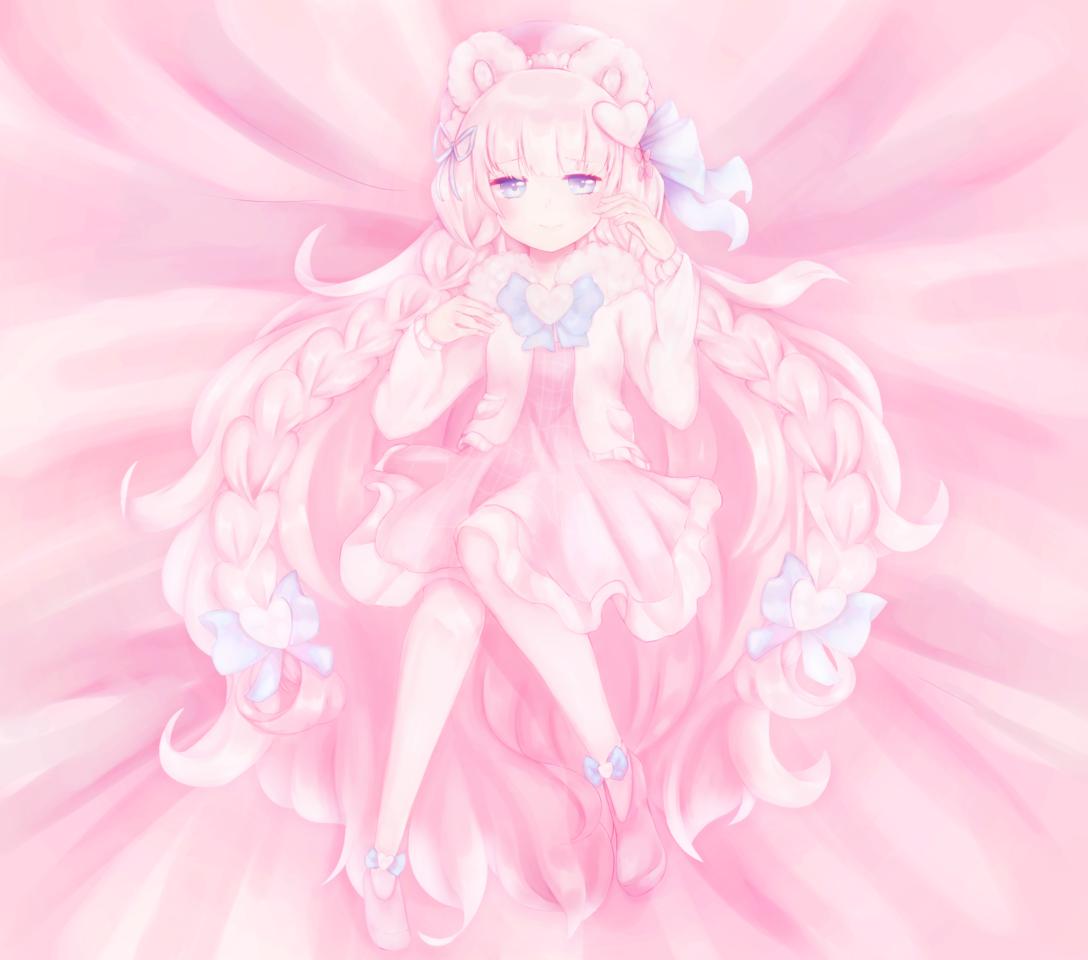 miyumiia Illust of hebeta illustration bear medibangpaint cute pink blue soft manga original girl