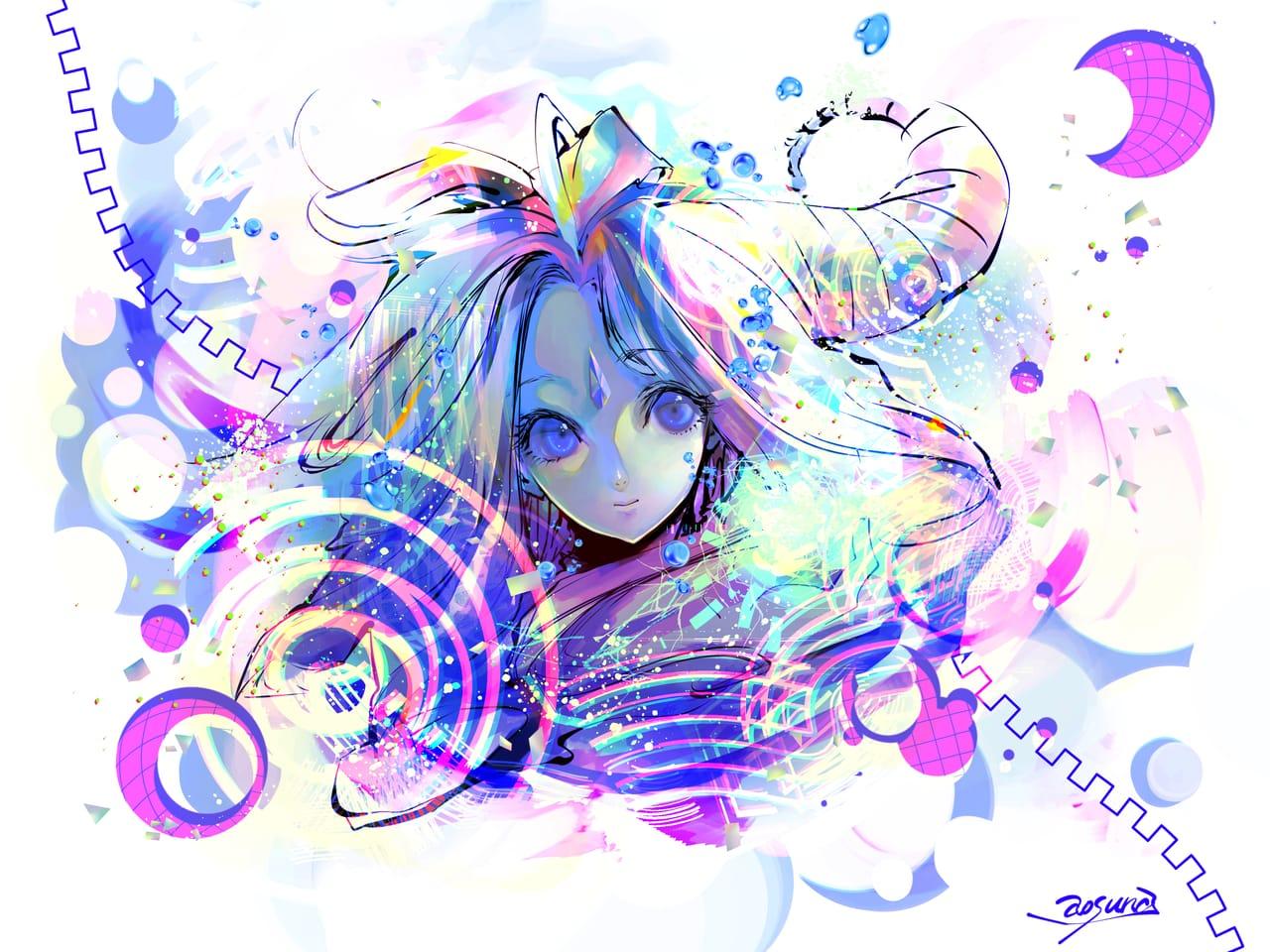 colorful Illust of 青砂時計 February2021_Fantasy original oc